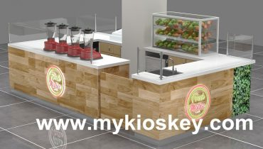 Fresh juice bar kiosk shop counter design for shopping mall