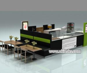 Elegance retail mall food donut display kiosk for USA