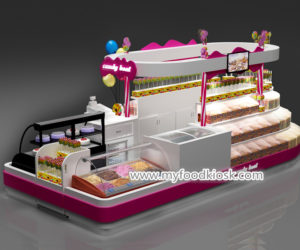Wooden candy kiosk manufacturer with good price
