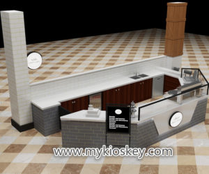Best quality retail mall food crepe kiosk &  waffle kiosk design for sale