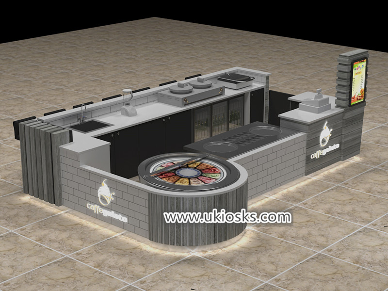 Unique customized fried ice cream kiosk export to UK