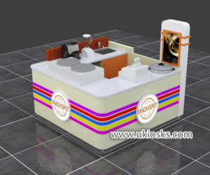 hot sale milkshakes kiosk & juce bar kiosk design for shopping mall