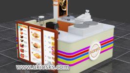 Multifunction mall food corn kiosk with crepe kiosk export UK