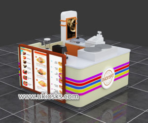 Multifunction mall food corn kiosk with crepe kiosk export UK