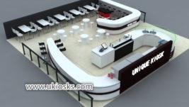 Professional custom made mall food coffee shop counter design