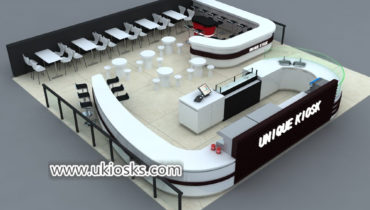 Professional custom made mall food coffee shop counter design
