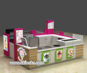 10X12 mall food yogurt bar fried ice cream kiosk export United States