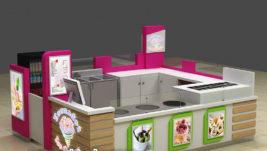 Most popular gelato fried ice cream kiosk design for United States