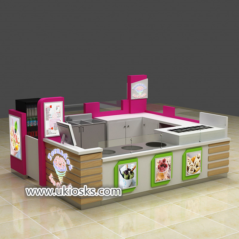 Some successful mall fried ice cream kiosk project for share