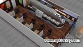 Luxury ice cream shop counter furniture export United States