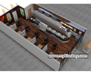Luxury ice cream shop counter furniture export United States