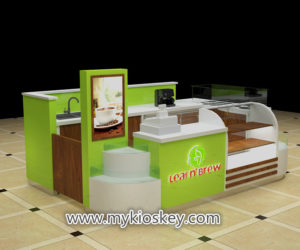 Most popular Fresh fruit juice bar & milkshakes kiosk design export USA