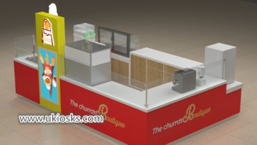 Popular Churros &snack fast food kiosk design for shopping mall