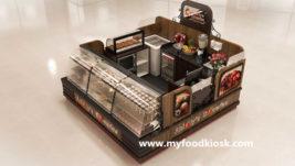 Most popular chocolate cake kiosk with bakery display showcase
