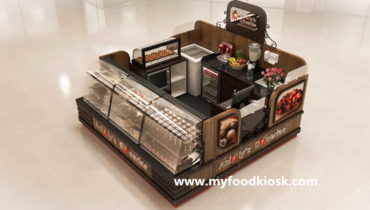 Most popular chocolate cake kiosk with bakery display showcase