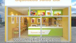 Fresh juice bar & juice shop counter furniture design for sale