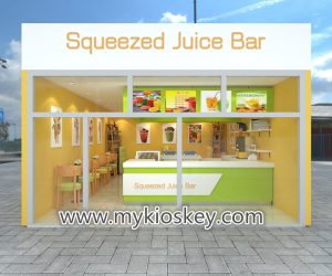 Fresh juice bar & juice shop counter furniture design for sale