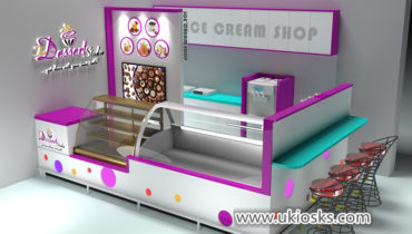 Fantastic mall 3d ice cream kiosk shop design for sale