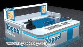 fruit juice bar & frozen yogurt kiosk furniture design for sale