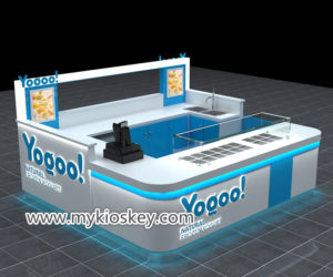 fruit juice bar & frozen yogurt kiosk furniture design for sale