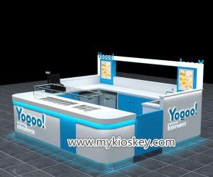 Modern frozen yogurt kiosk with high quality for sale