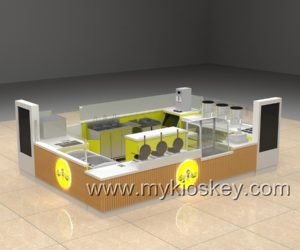 America GGP mall bubble on waffle & juice bar kiosk design