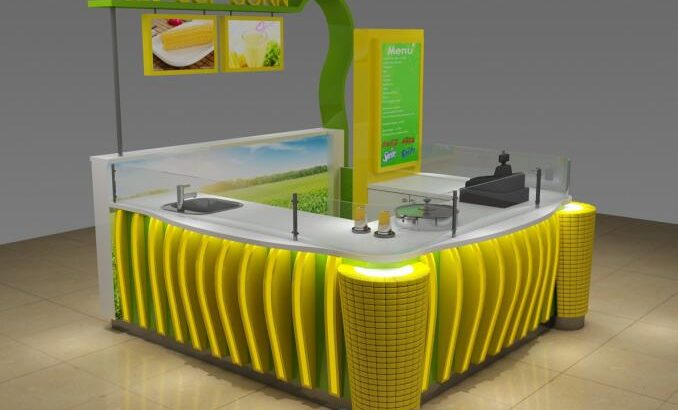 Most popular sweet cup corn kiosk & mall corn kiosk design for sale