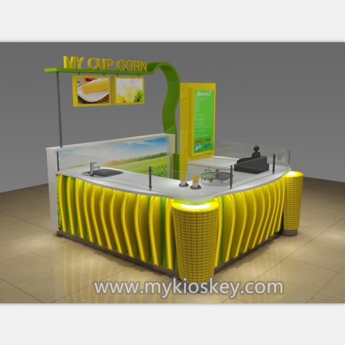 Most popular sweet cup corn kiosk & mall corn kiosk design for sale
