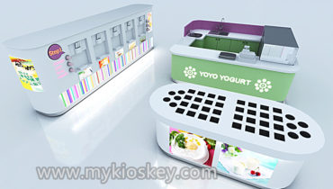 Most popular self-service frozen yogurt shop furniture design