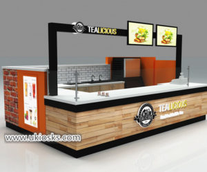 Modern America popular mall 3d bubble tea kiosk design