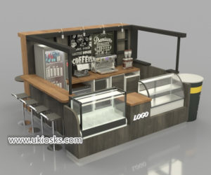 Best selling retail fast food coffee kiosk design for shopping mall