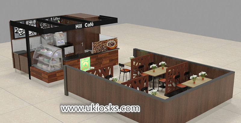 Saudi Arabia popular wooden coffee shop counter design