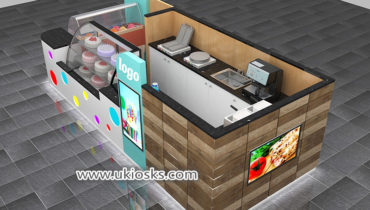 Best selling ice cream & dessert display kiosk for shopping mall