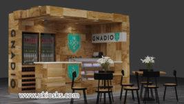 Saudi Arabia popular Espresso coffee kiosk with bar counter design
