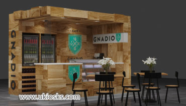 Saudi Arabia popular Espresso coffee kiosk with bar counter design