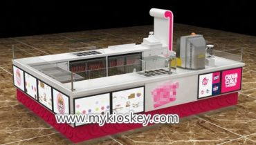 Summer ice cream roll kiosk design with drink service design