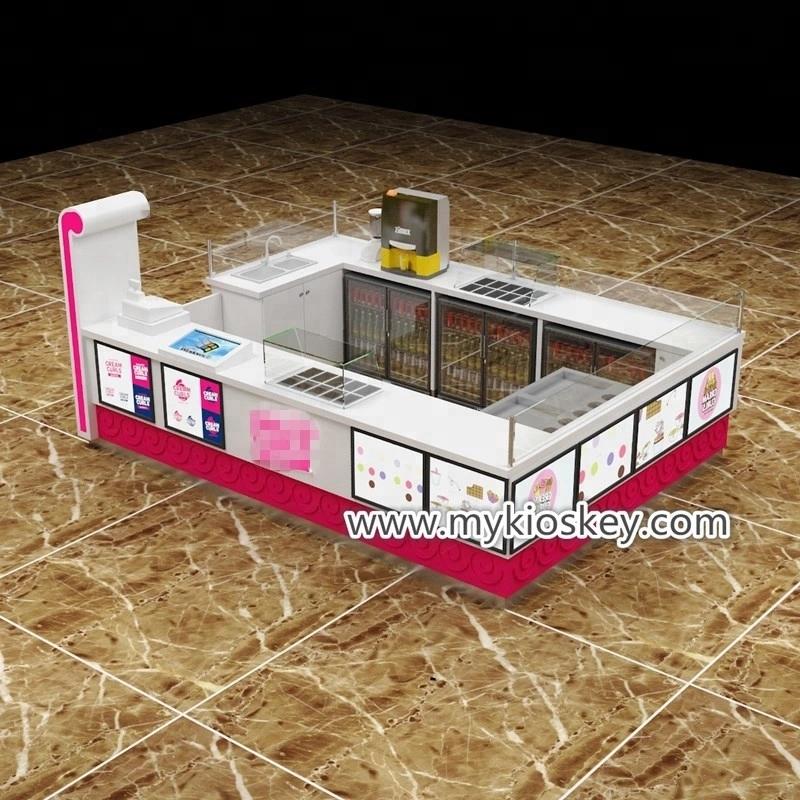 ice cream roll kiosk