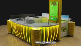 Best selling sweet corn kiosk & cup corn kiosk design for shopping mall