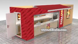 Popular retail fast food pizza shop interior design for sale