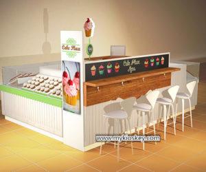 Creative mall food sweet cupcake kiosk & bakery display showcase for sale