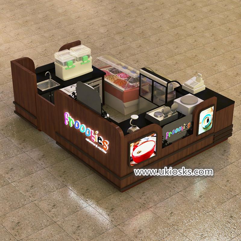 dipping ice cream kiosk