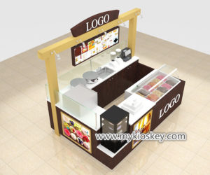 Attractive ice cream kiosk & fresh juice bar counter for sale