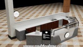 Best selling Modern commercial crepe kiosk design for shopping mall