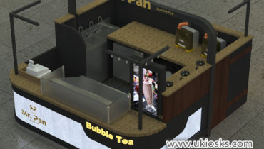 high end commercial mall food bubble tea kiosk for sale
