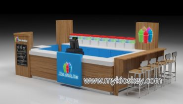 Cool fresh juice bar with mall smoothie kiosk design for sale