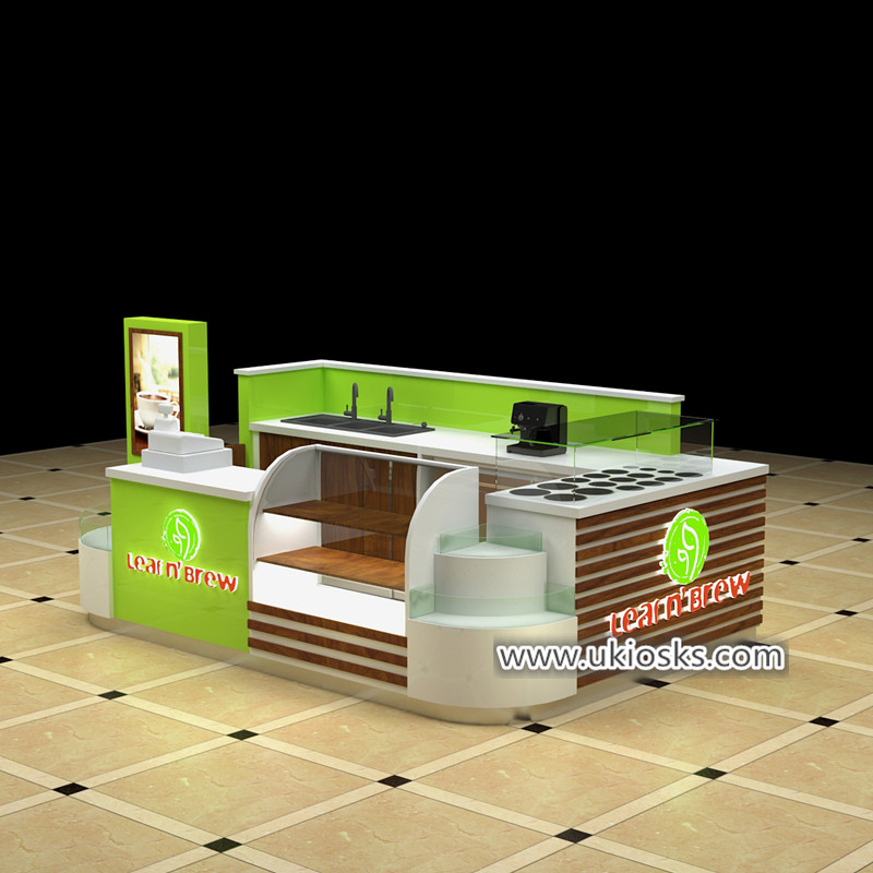 Popular fresh juice bar kiosk design export to United stated