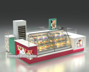 Spain popular bubble tea kiosk design for shopping mall