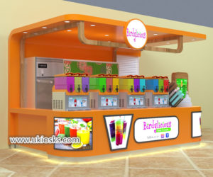 Juice bar kiosk & high end beverages display counter export to Sri Lanka