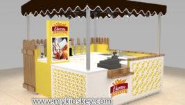 Creative fast food snack kiosk export spain