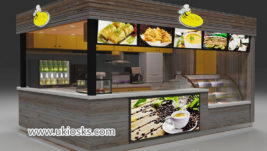 Coffee kiosk & outdoor fast food kiosk design for sale